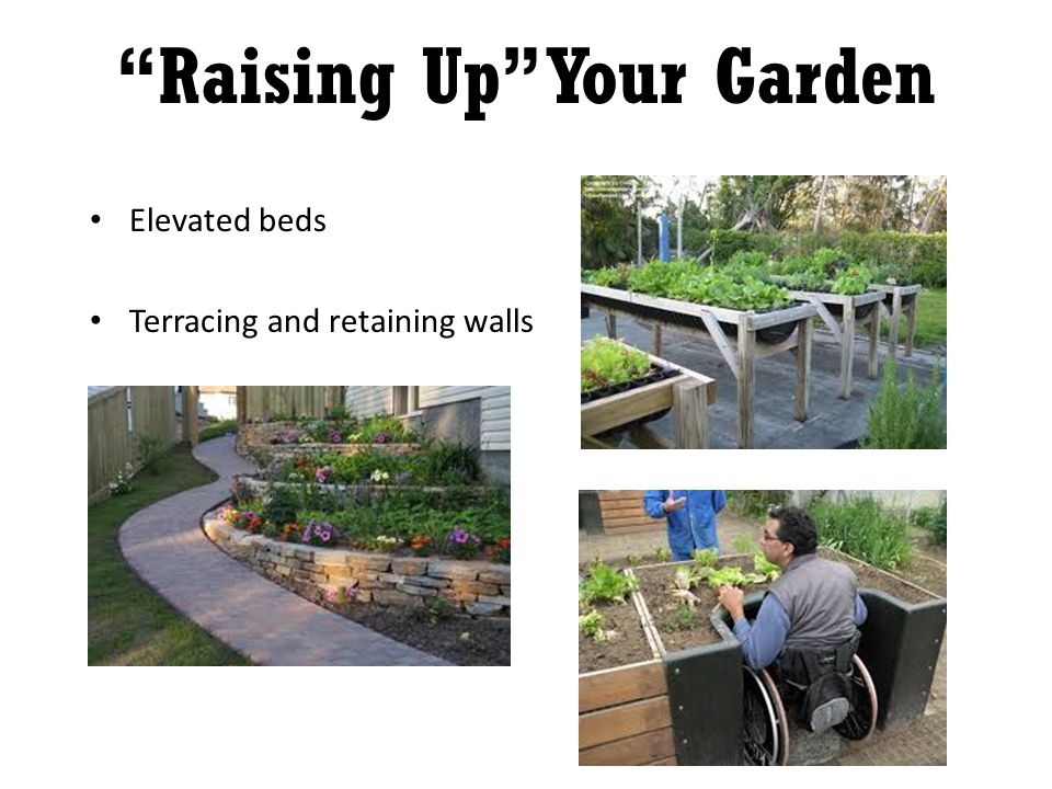 Elevated beds Terracing and retaining walls Raising Up Your Garden