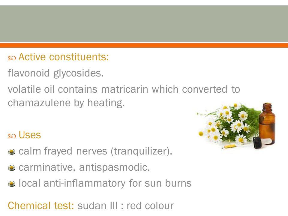 Active constituents: flavonoid glycosides.