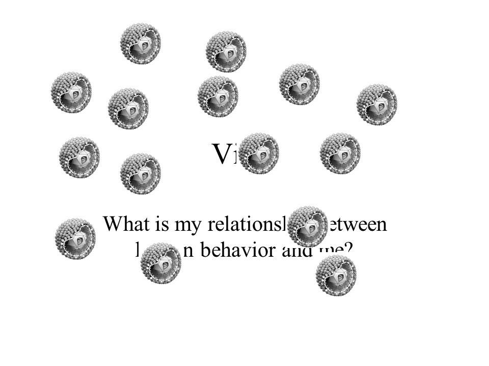 Virus What is my relationship between human behavior and me?