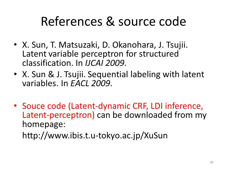References & source code X. Sun, T. Matsuzaki, D.