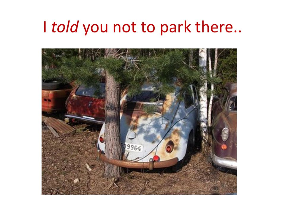 I told you not to park there..