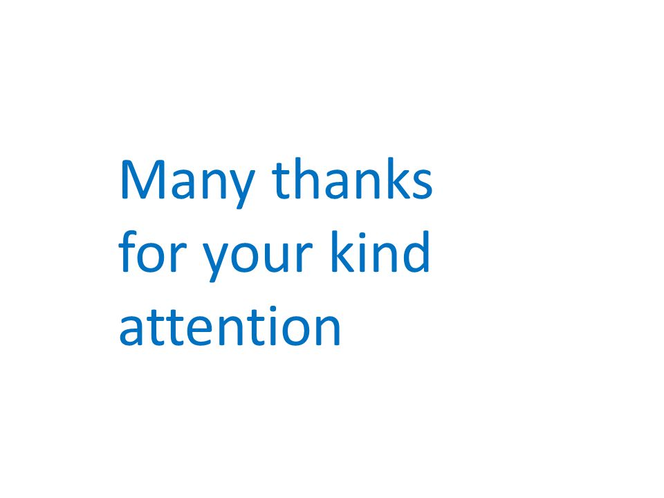 Many thanks for your kind attention