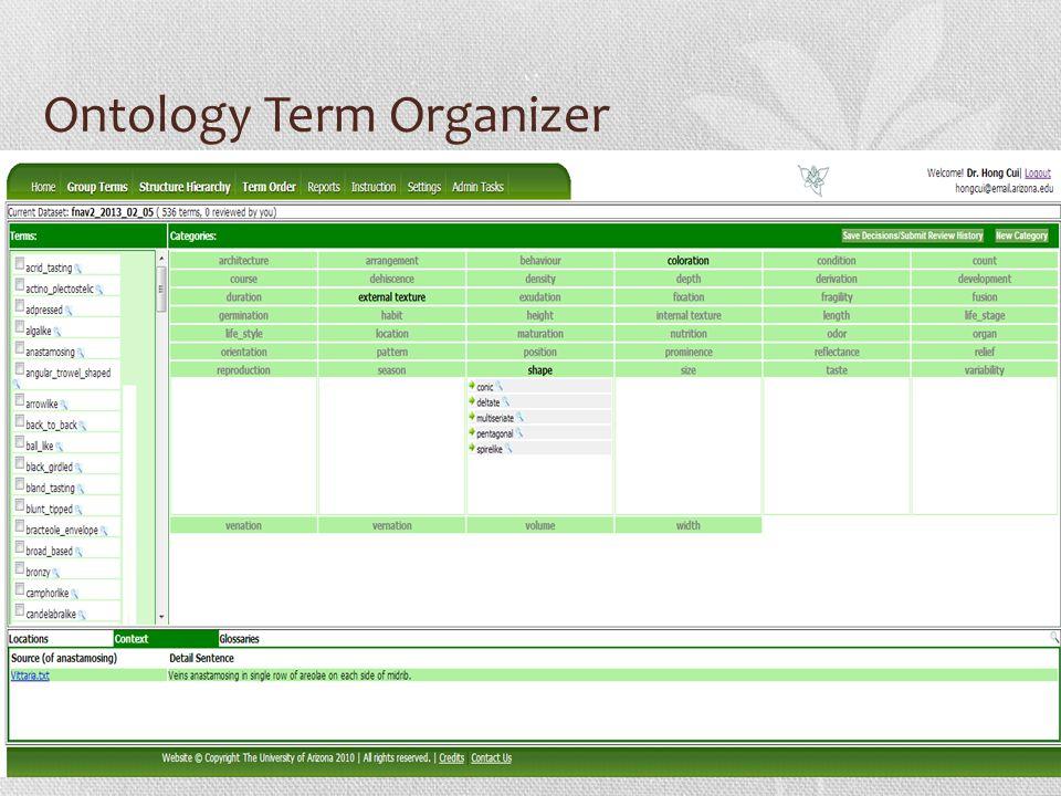 Ontology Term Organizer