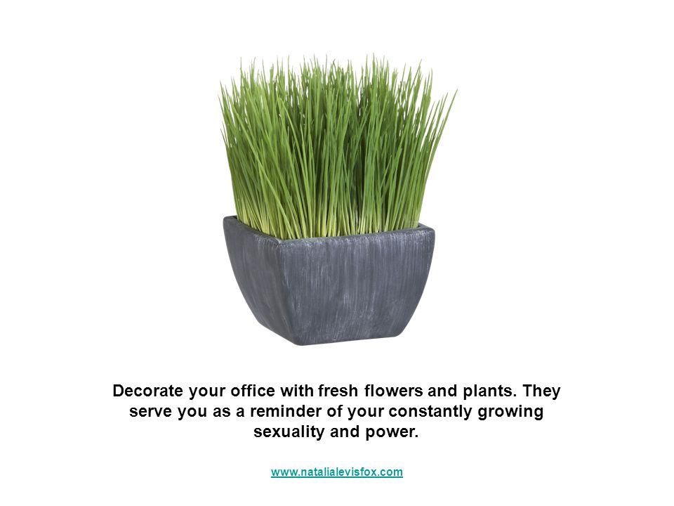 Decorate your office with fresh flowers and plants.