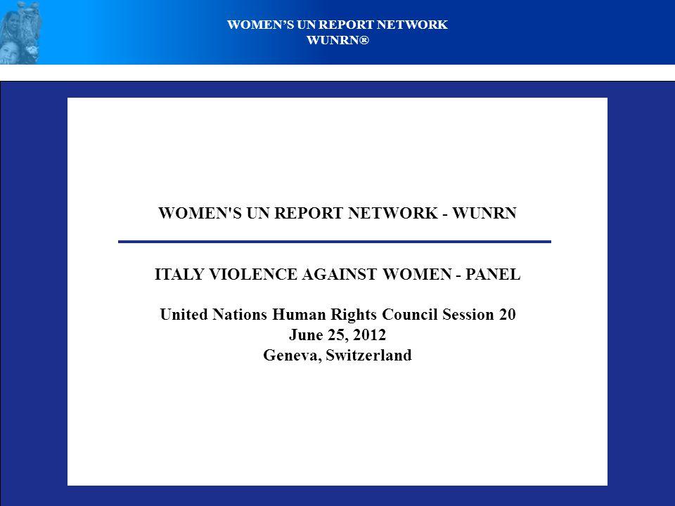 WOMENS UN REPORT NETWORK WUNRN® MODELS PERVASIVE ON ITALIAN TV