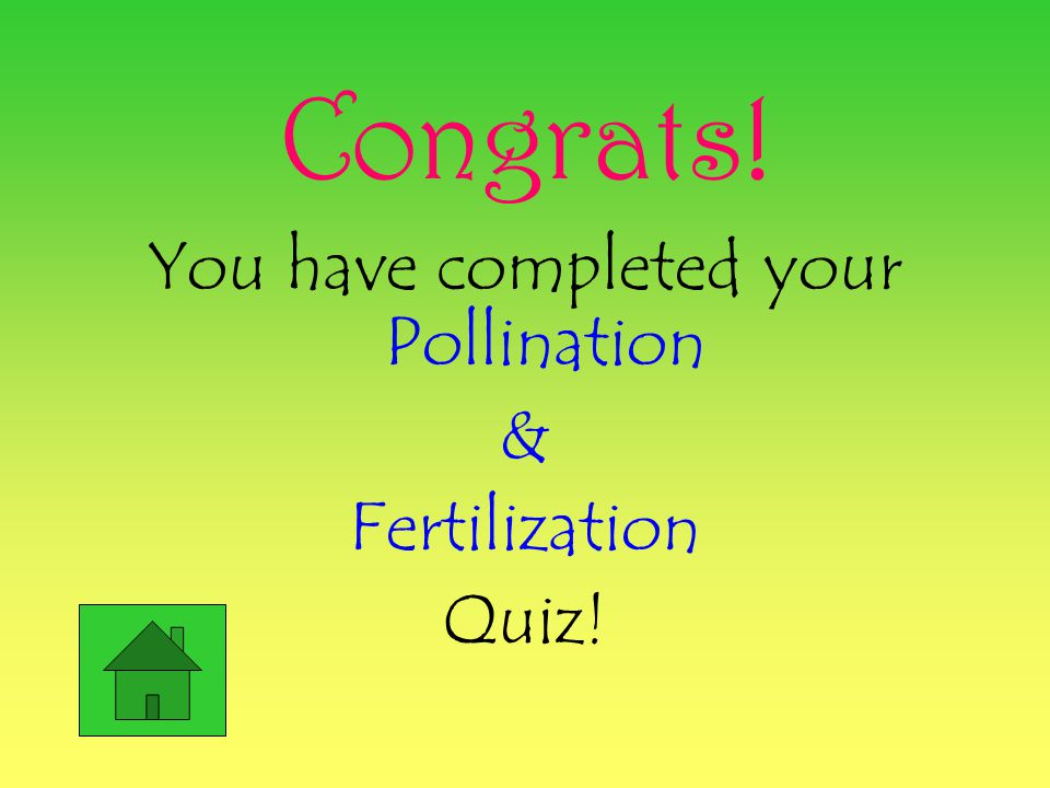 #5 Incorrect! Once the ovule is fertilized a seed will develop! Back to Quiz