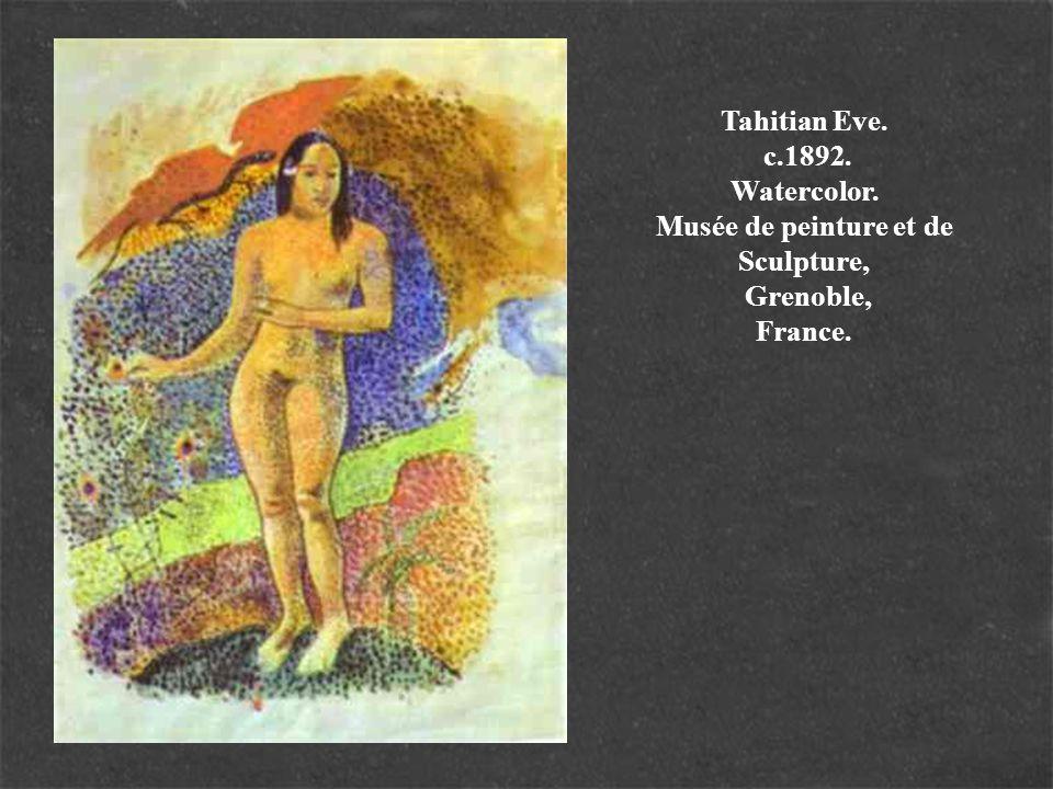 Words of the Devil.c.1892. Pastel.