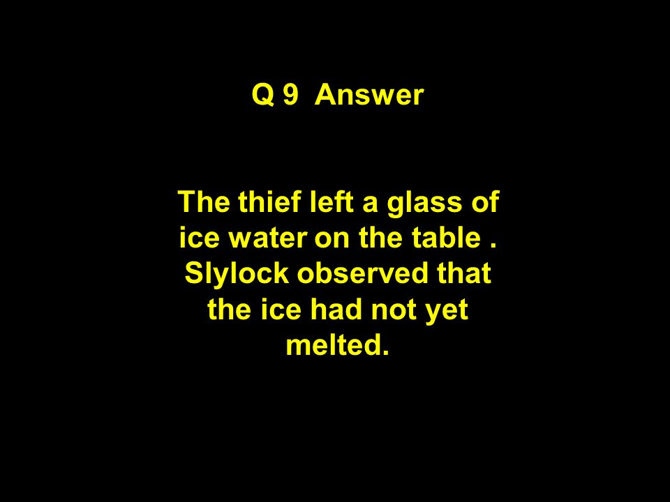 Question 9 Observe and Think Clue