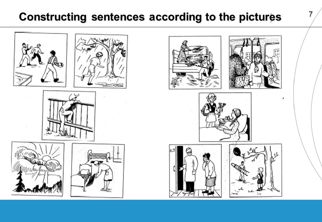 7 Constructing sentences according to the pictures
