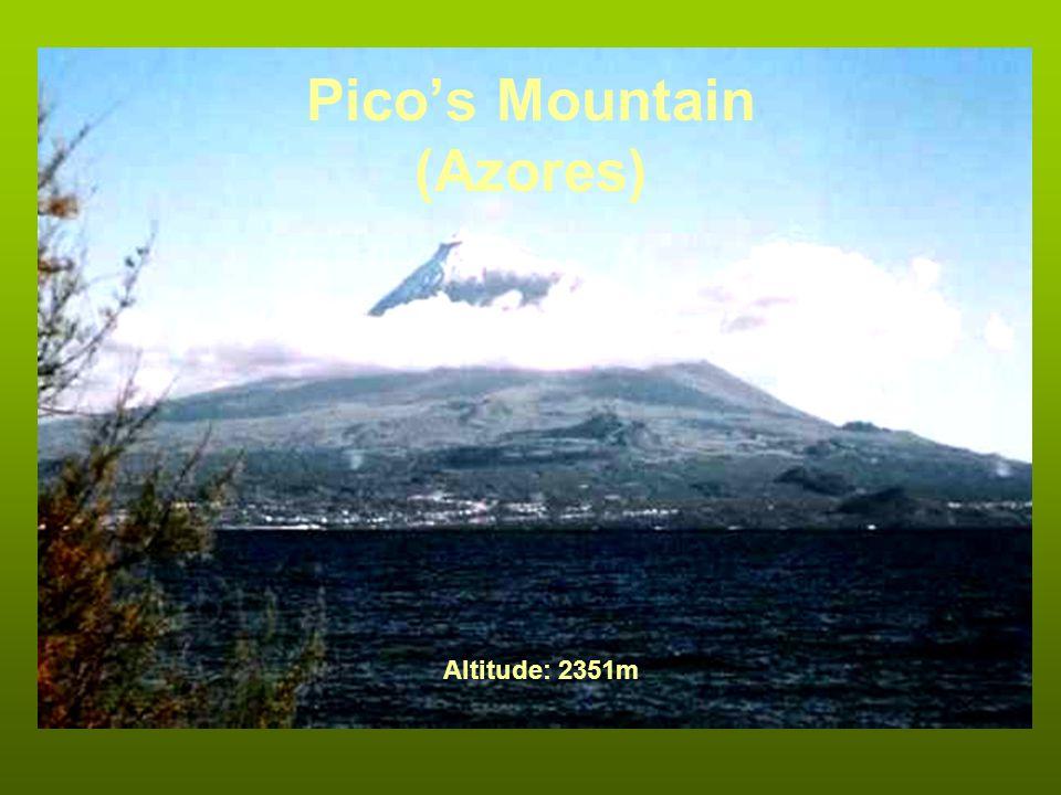 Picos Mountain (Azores) Altitude: 2351m