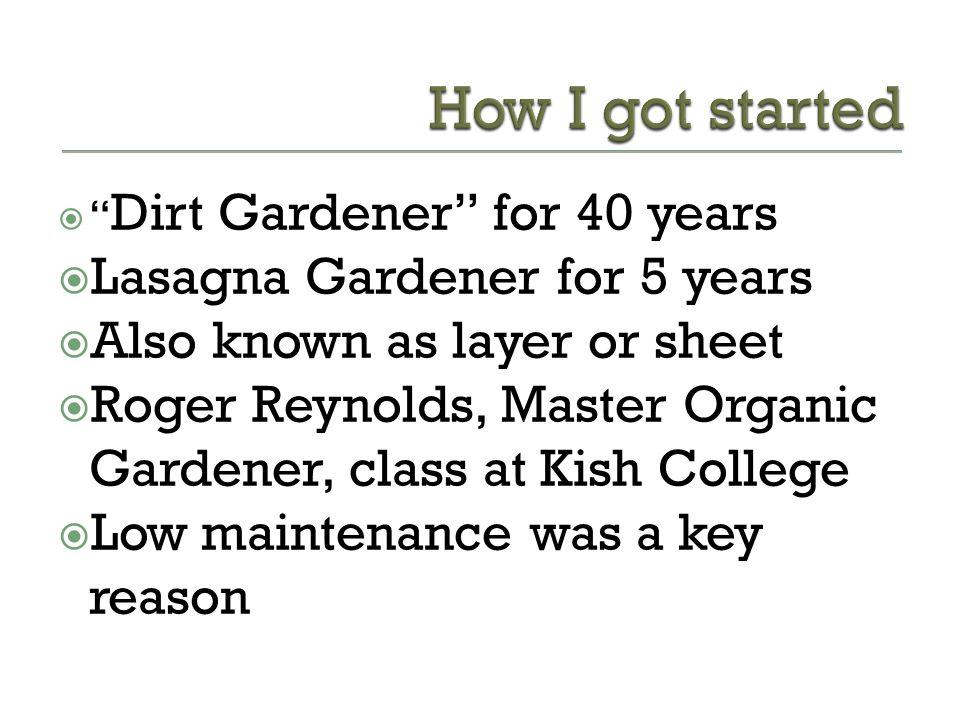 Why Should You Lasagna Garden.
