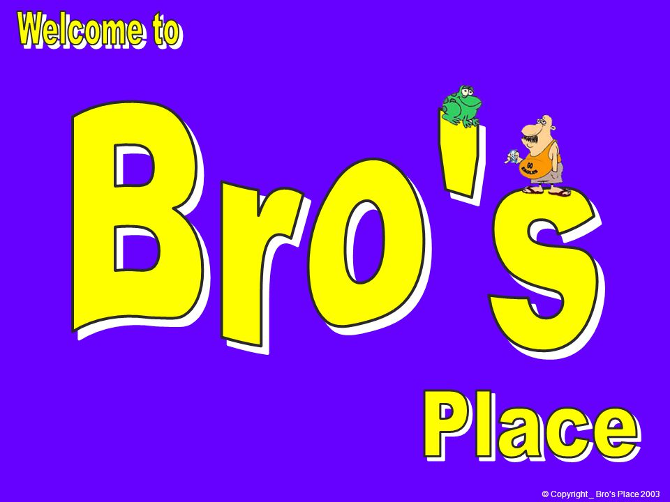 © Copyright _ Bros Place 2003