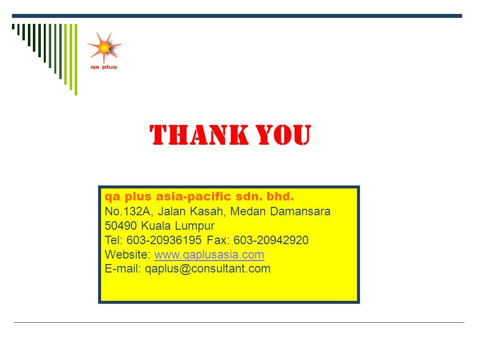 THANK YOU qa plus asia-pacific sdn. bhd.