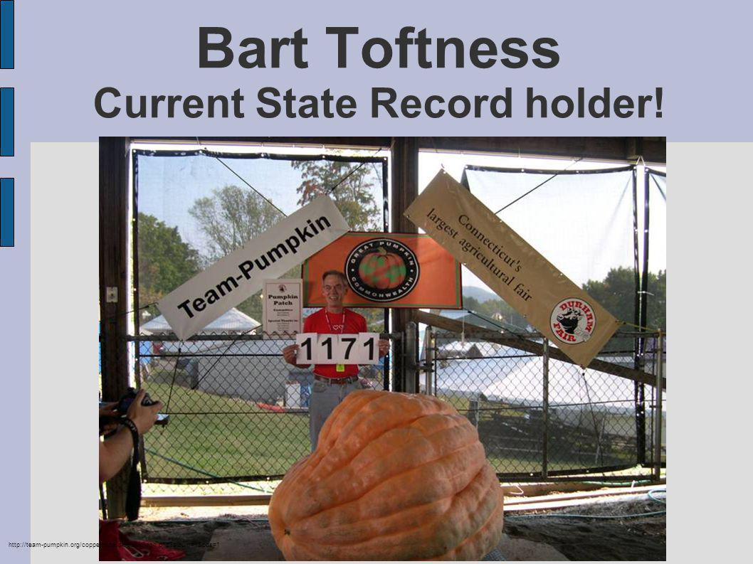 Bart Toftness Current State Record holder.