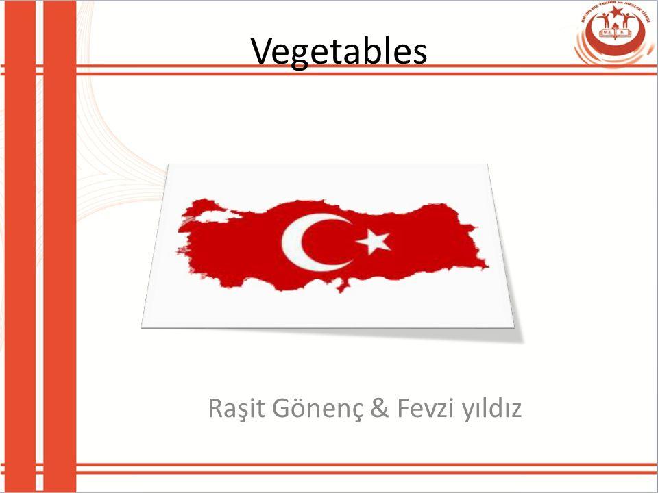Vegetables Raşit Gönenç & Fevzi yıldız