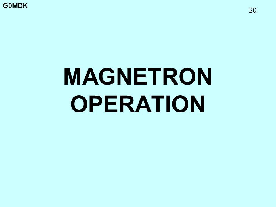 G0MDK 20 MAGNETRON OPERATION