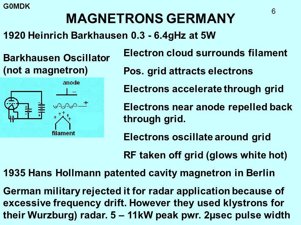 G0MDK 17 E-1198 MAGNETRON E-1198 8 cavity 12.5kW 3gHz (10cm) 1500 Oersteds