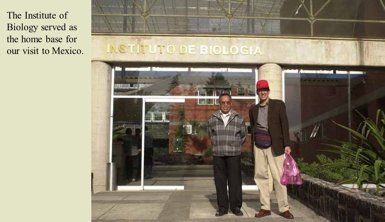 The Institute of Biology served as the home base for our visit to Mexico.