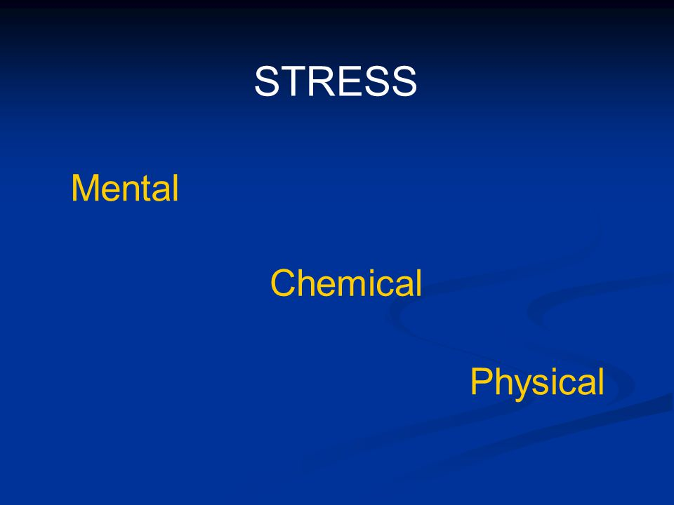 What is Mental Stress.