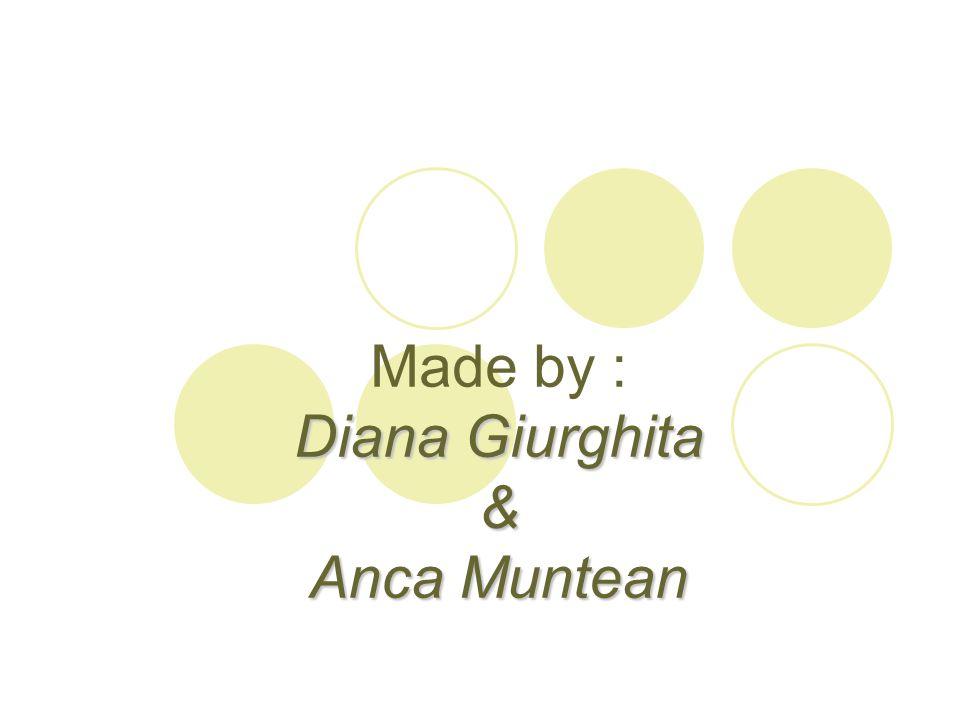 Made by : Diana Giurghita & Anca Muntean