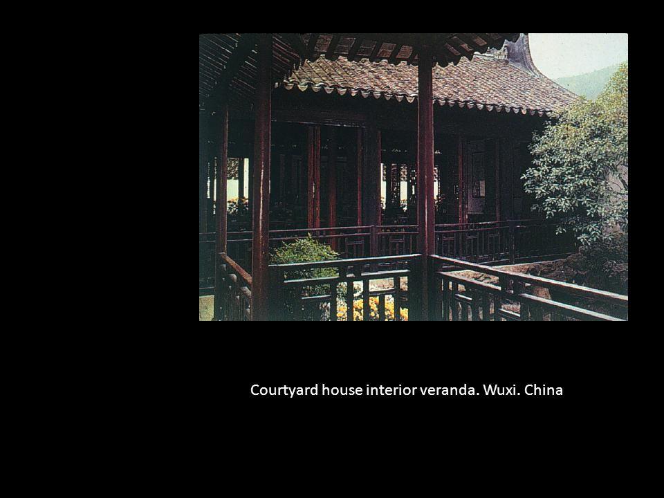 Courtyard house interior veranda. Wuxi. China