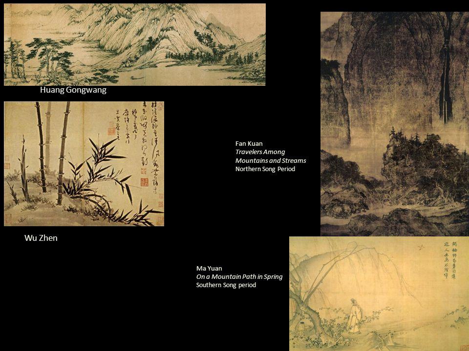 Huang Gongwang Wu Zhen Fan Kuan Travelers Among Mountains and Streams Northern Song Period Ma Yuan On a Mountain Path in Spring Southern Song period