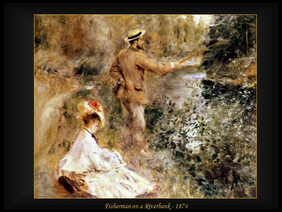 Claude Monet Painting in His Garden at Argenteuil - 1873