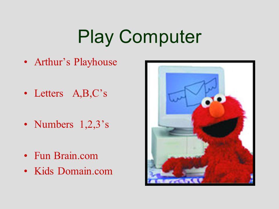 Play Computer Arthurs Playhouse Letters A,B,Cs Numbers 1,2,3s Fun Brain.com Kids Domain.com