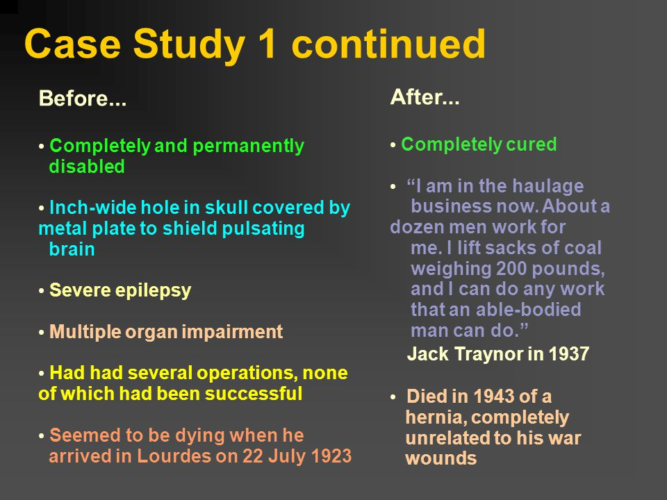 Case Study 1 continued Before...