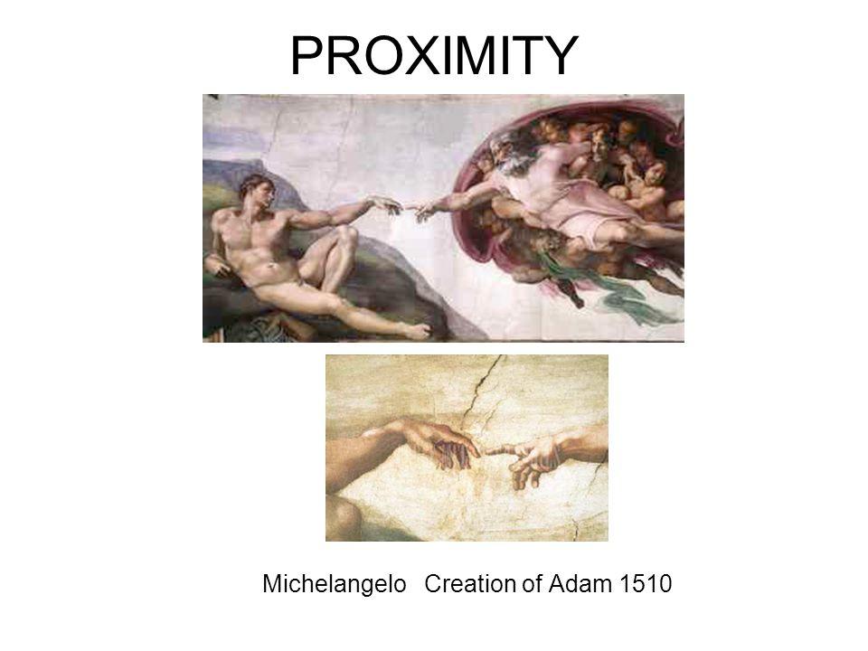 PROXIMITY Michelangelo Creation of Adam 1510