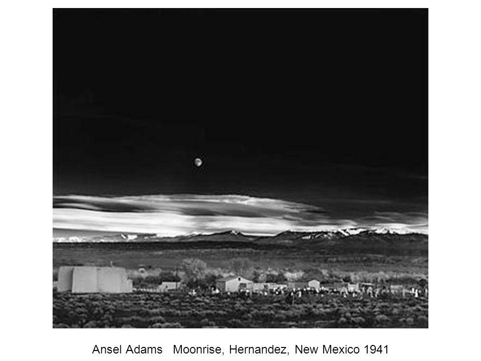Ansel Adams Moonrise, Hernandez, New Mexico 1941