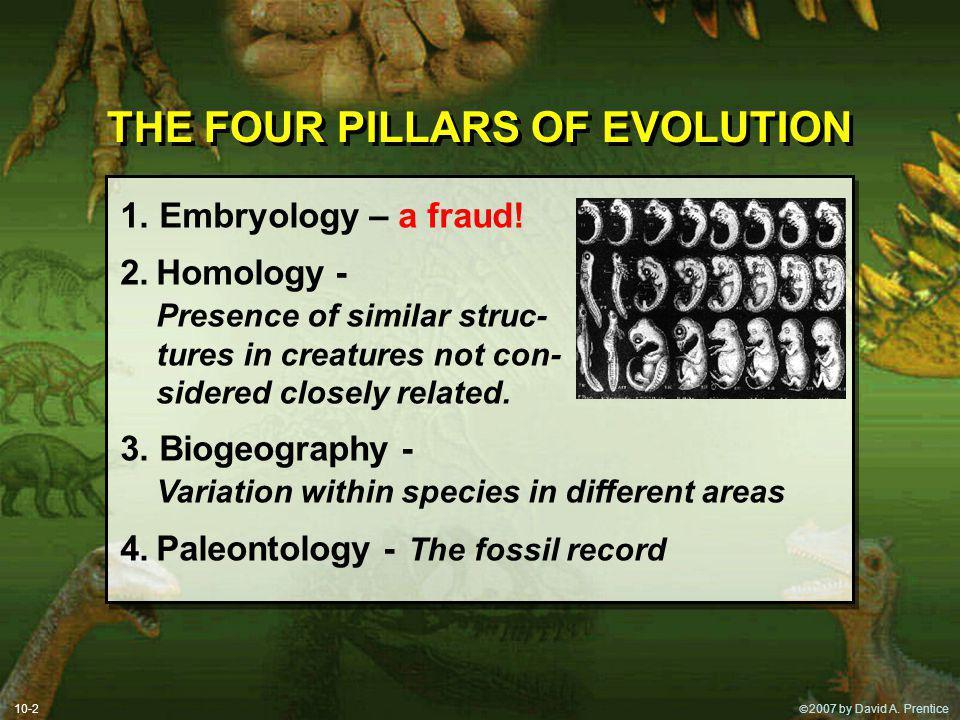 2007 by David A.Prentice NO POSSIBILITY BUT EVOLUTION.