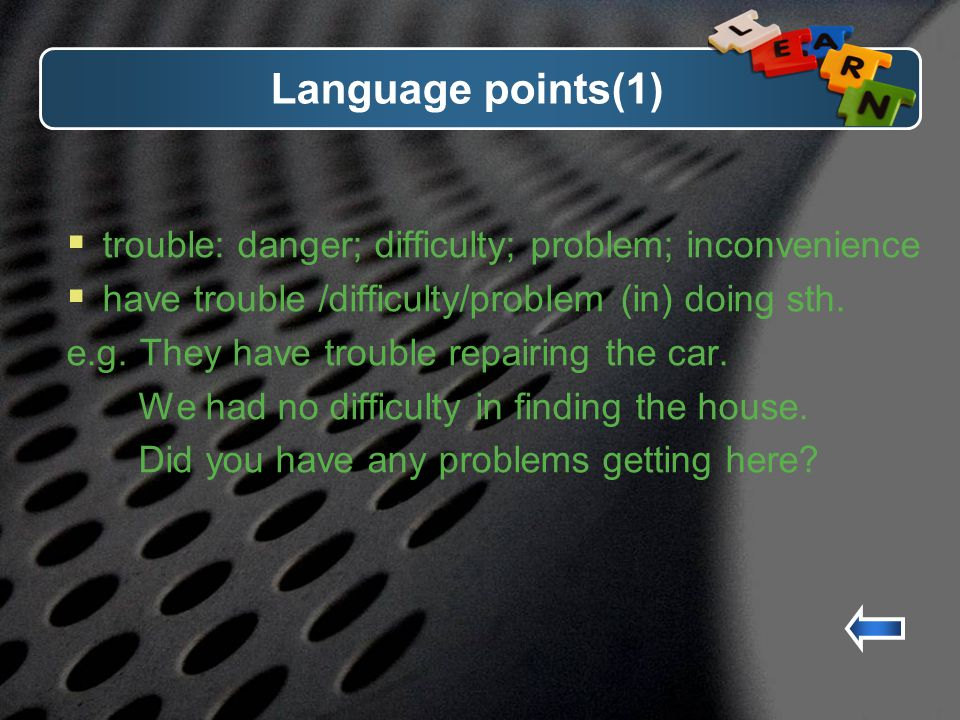 Paragraph 5 You must be positive about learning English and believe that you can do it.