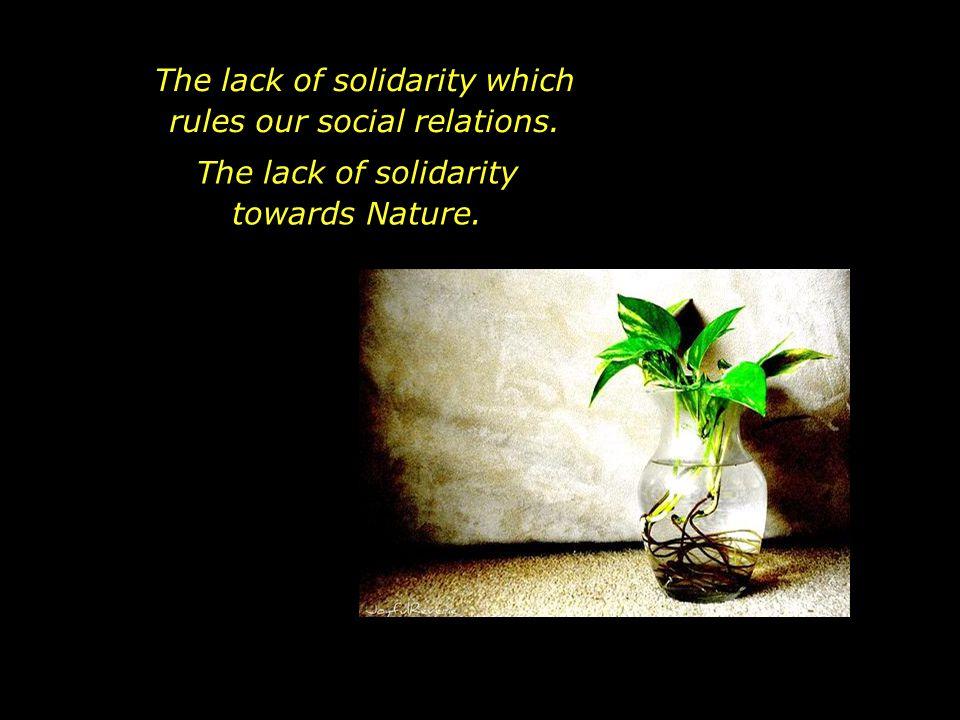 As well as the financial crisis, we also face the environmental crisis.