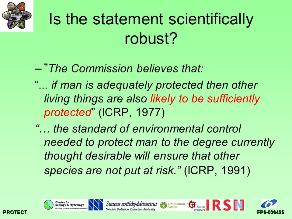 PROTECTFP Is the statement scientifically robust.