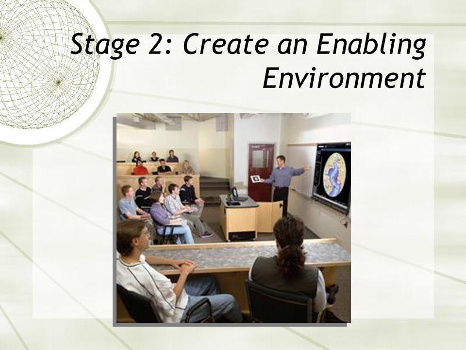 Stage 2: Create an Enabling Environment
