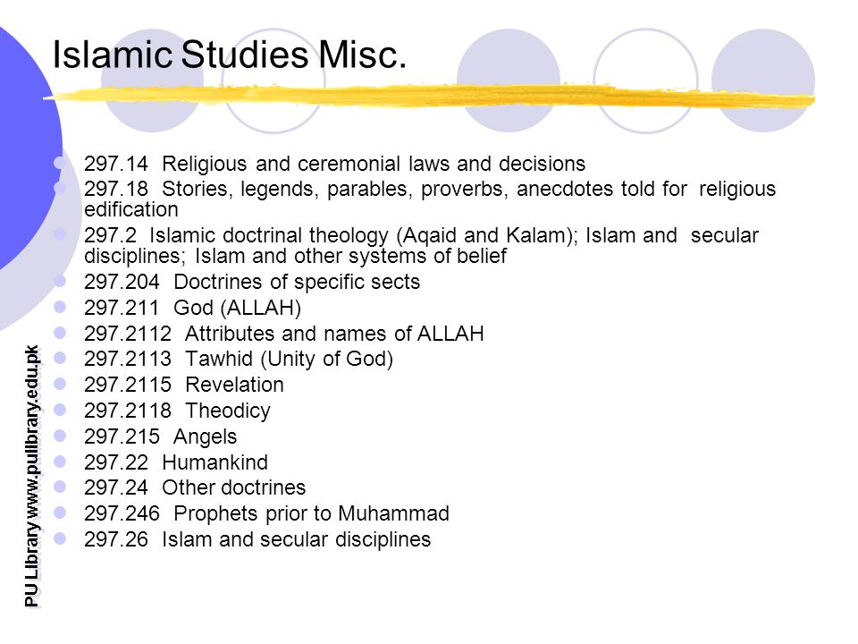 PU Library   Islamic Studies Misc.
