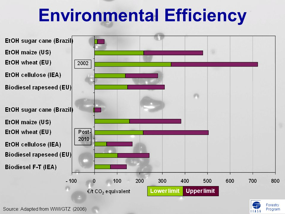 Forestry Program Environmental Efficiency Lower limit Upper limit Source: Adapted from WWI/GTZ (2006)