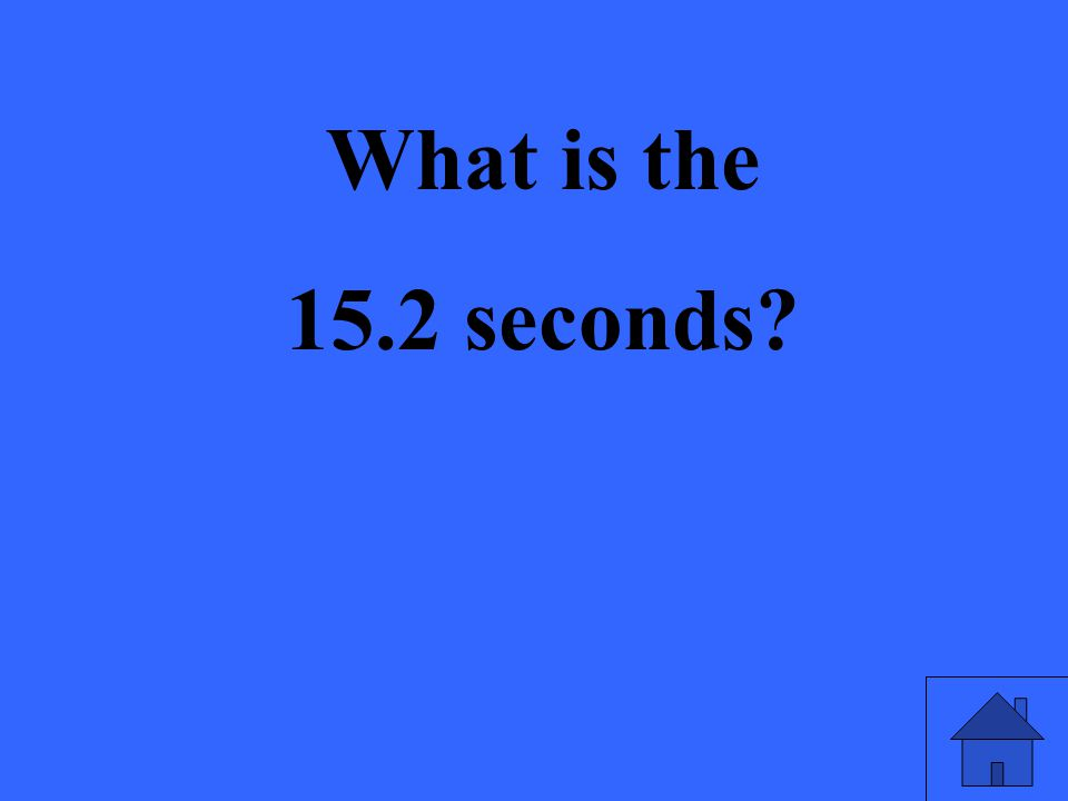 What is the 15.2 seconds?