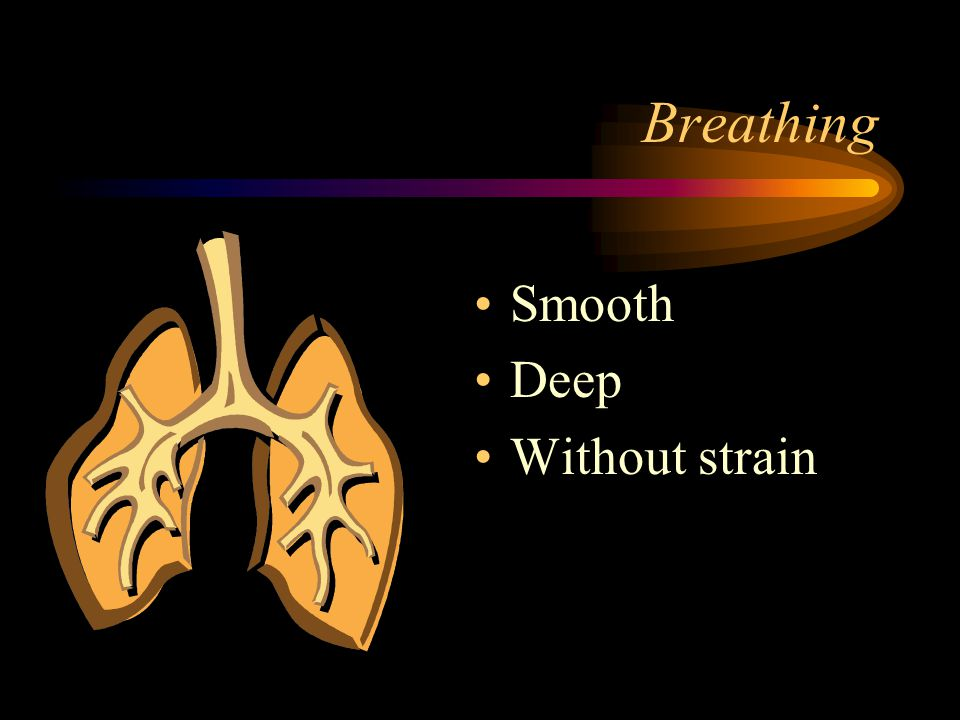 Breathing Smooth Deep Without strain