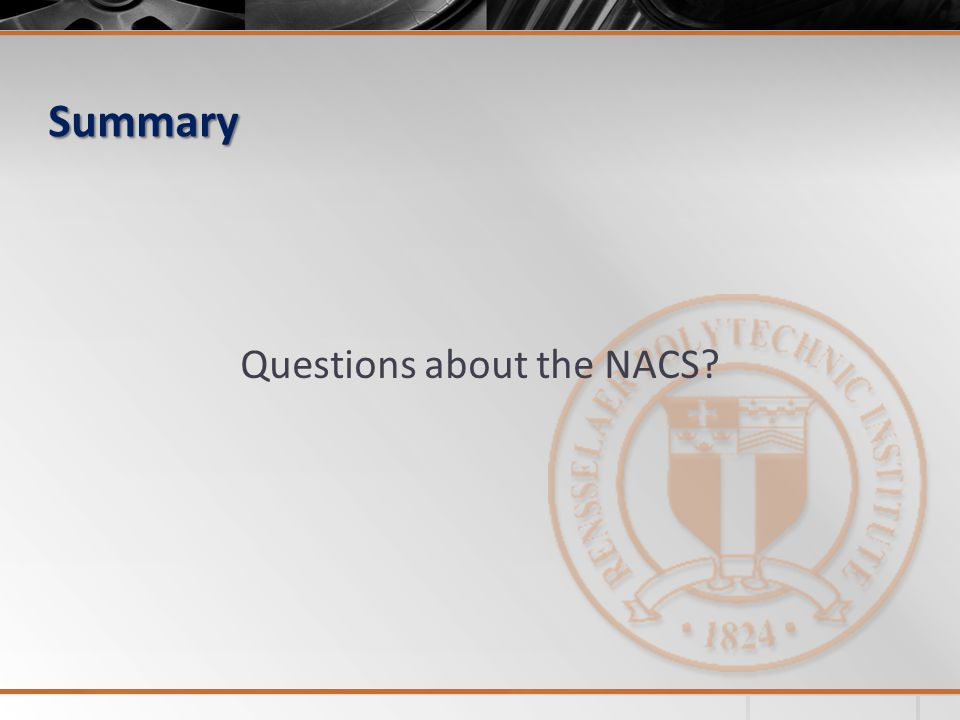 Summary Questions about the NACS