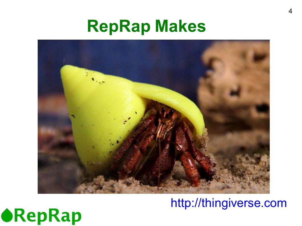 RepRap Makes http://thingiverse.com 4