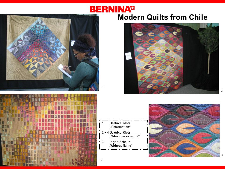 Modern Quilts from Chile Beatrice Klotz Deformation Beatrice Klotz Who chases who.