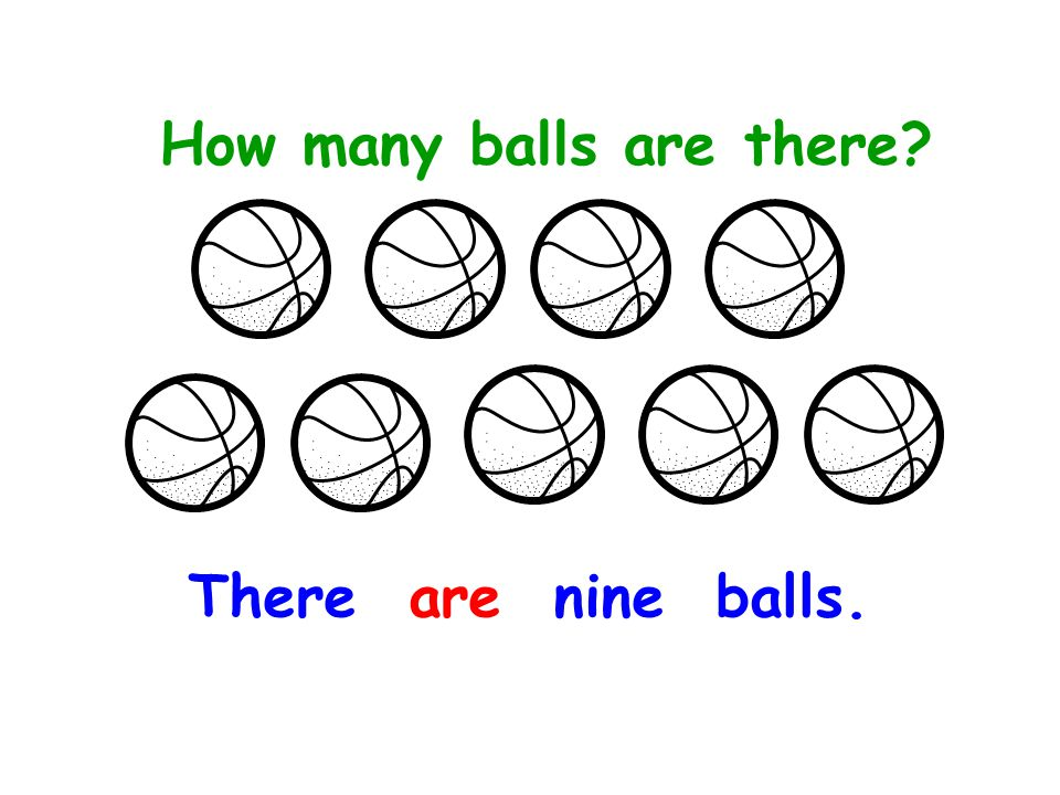 a. How many balls are there? There is a ball.