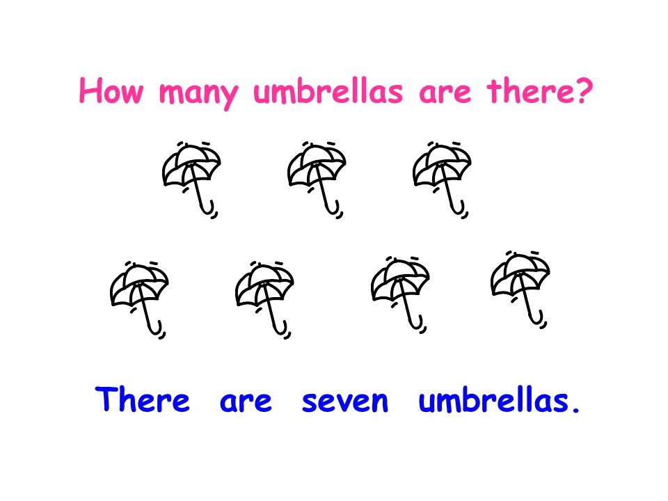 a. How many umbrellas are there? There is an umbrella.
