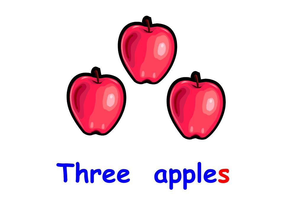 b. an apple