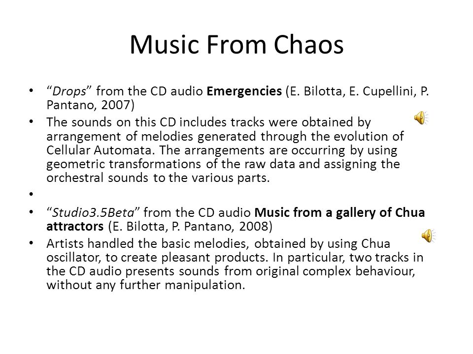 Music From Chaos Drops from the CD audio Emergencies (E.