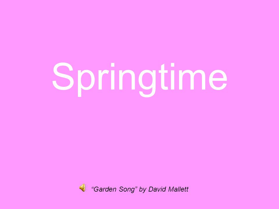 Springtime Garden Song by David Mallett