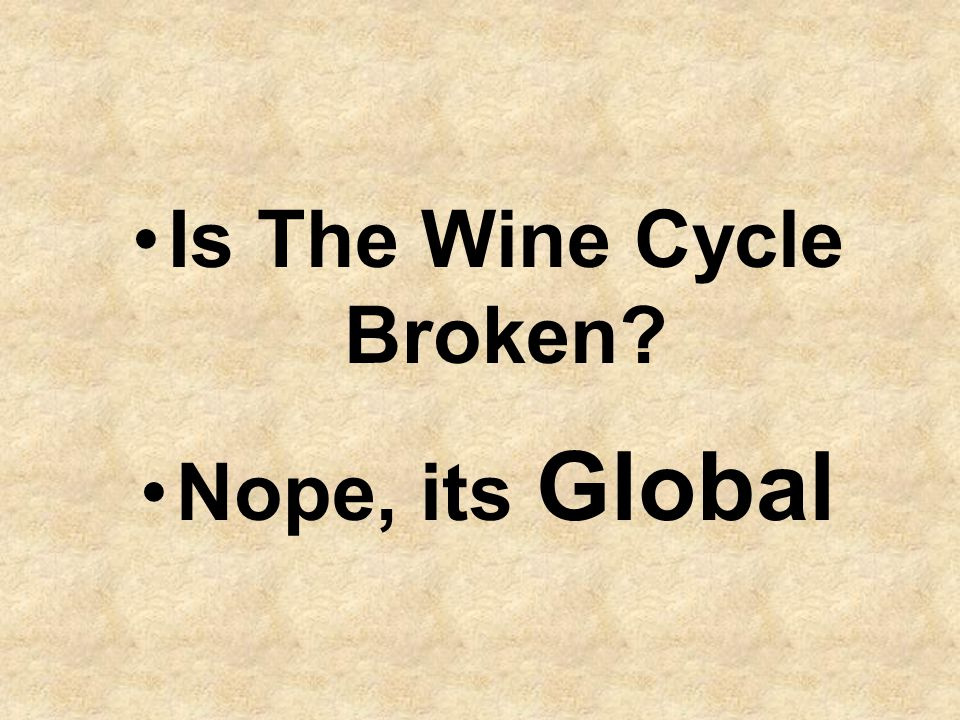 Is The Wine Cycle Broken? Nope, its Global