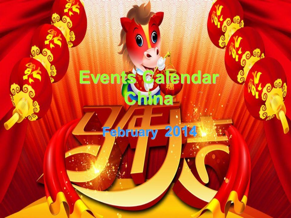 Events Calendar China February 2014